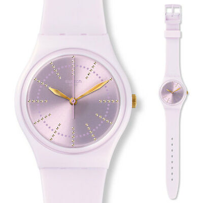 Swatch Guimauve Watch gp148 Analogue Silicone Pink