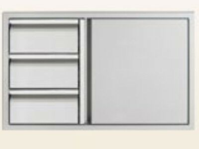 "Twin Eagles  36"" Door/Three Drawer Combo, TEDD363-B"