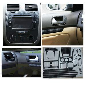Carbon Fiber Interior Sticker Set Door Handle Console