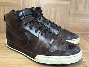 RARE-Nike-Air-Royal-Mid-VT-Baroque-Brown-Leather-Sz-10-5-395757-201-Vintage