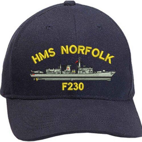 HMS Norfolk T23 bordado béisbol Gorras /& Gorros