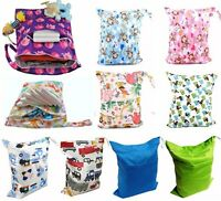 Cute Baby Nappy Reusable Washable Wet Dry Cloth Zipper Waterproof Diaper Bag