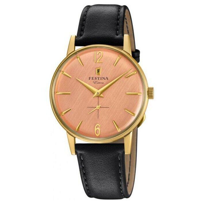 Reloj Festina Extra Hombre F20249/3 acero dorado y esfera rosada