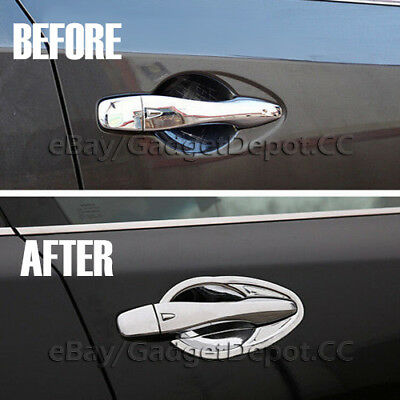 For Chrome Door Handle BOWL COVERS+Mirror Overlays For 2013-2018 NISSAN ALTIMA