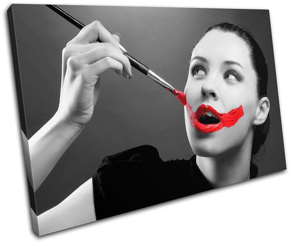 Painted Lips NUDES Fashion SINGLE arte LONA pa rojo  arte SINGLE Foto impresion 7688a8