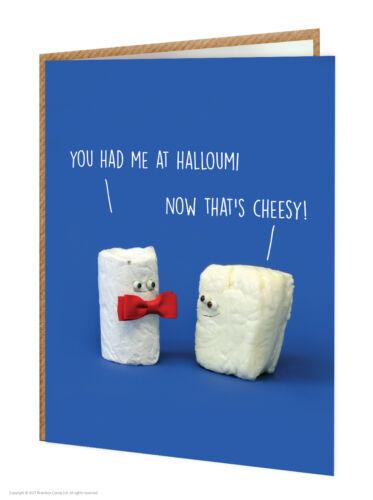 Super Bonbon Funny Comédie Humour appelé Halloumi fromage Carte D/'Anniversaire Fantaisie Coquine