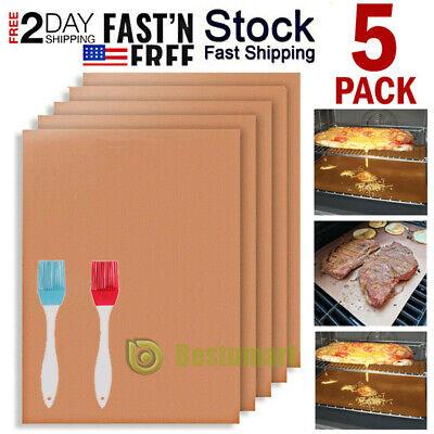 20x BBQ Copper Grill Mats Baking Mats Non Stick Mat Pad Bake Cooking Sheet Liner