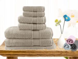 Brand-New-Soft-Touch-7-Piece-100-Cotton-Bath-Towel-Set-Linen