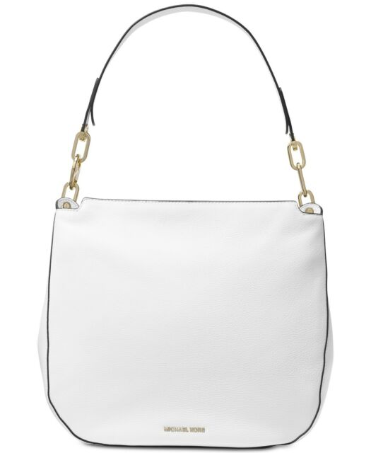 20982f0fb4 Michael Kors Leather Fulton Large Hobo Shoulder Bag Optic White for ...