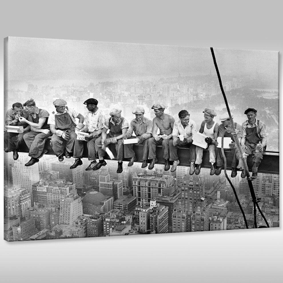 Tela canvas Muro pranzo Immagine Stampa d'Arte pausa pranzo Muro su un grattacieli 26f602