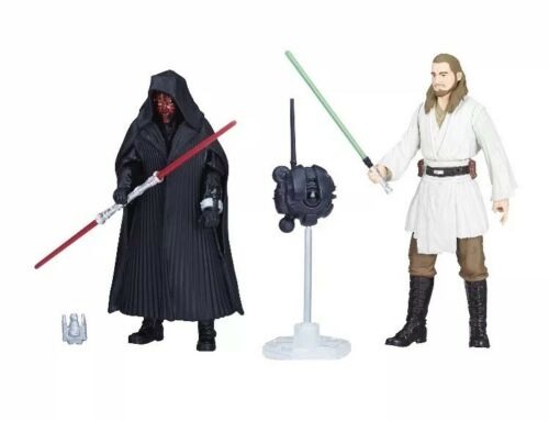 Inch ACTION FIGURE-Dark Maul et Qui-Gon Jinn STAR WARS SOLO 3 3//4