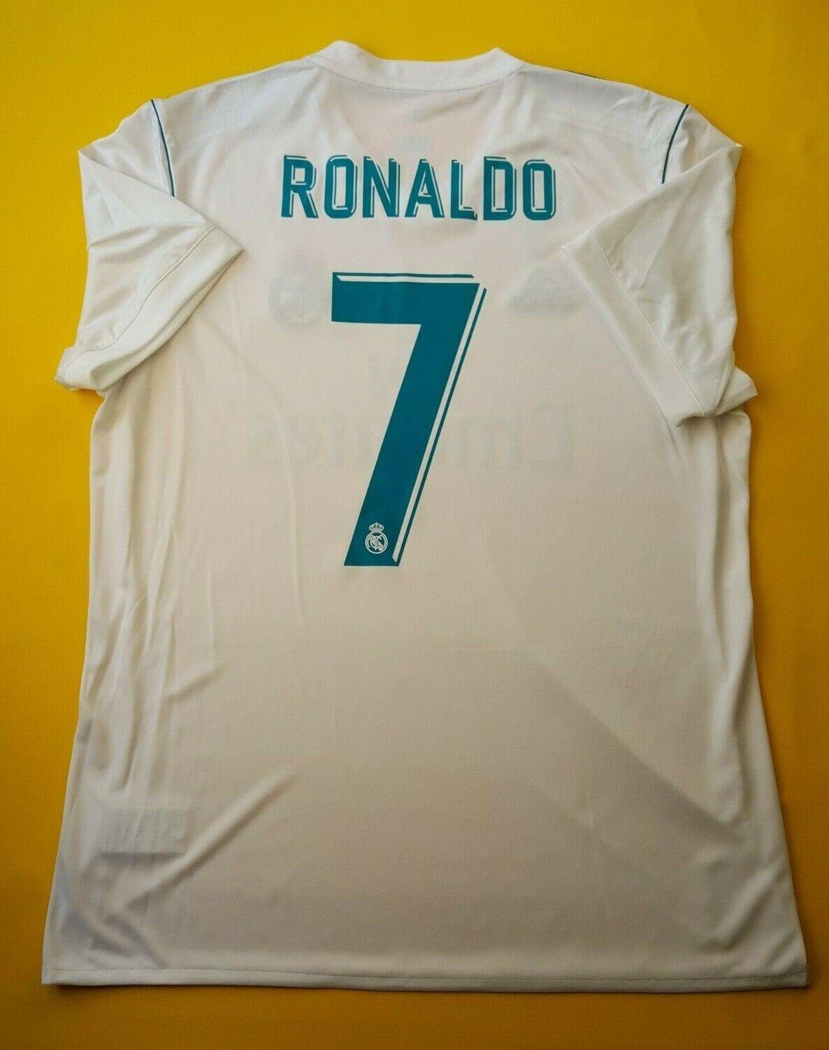 5+ 5 Ronaldo Real Madrid Jersey Camisa grande de 2018 AZ8059 Adidas Fútbol ig93