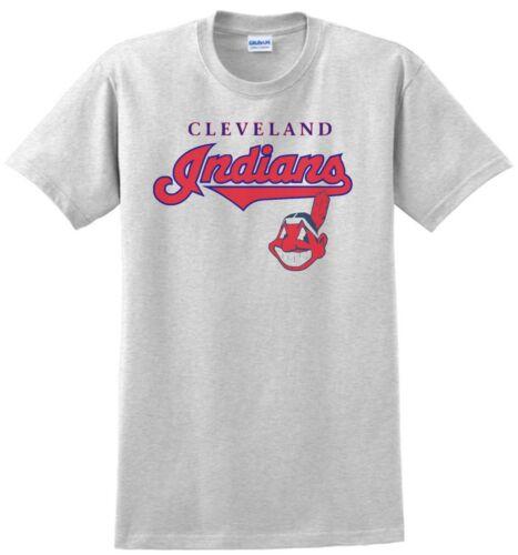 Yellow XXL 100/%  Cotton Khaki White Small Cleveland Indians T-Shirt Gray