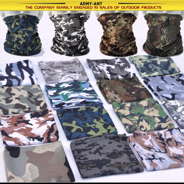 7-PCS Multi Scarf Hat Neck Bandana Face Mask Cap Heardwear Tubu Camouflage Camo