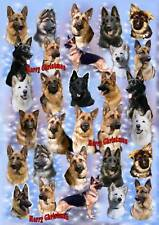 German Shepherd Christmas Wrapping Paper By Starprint