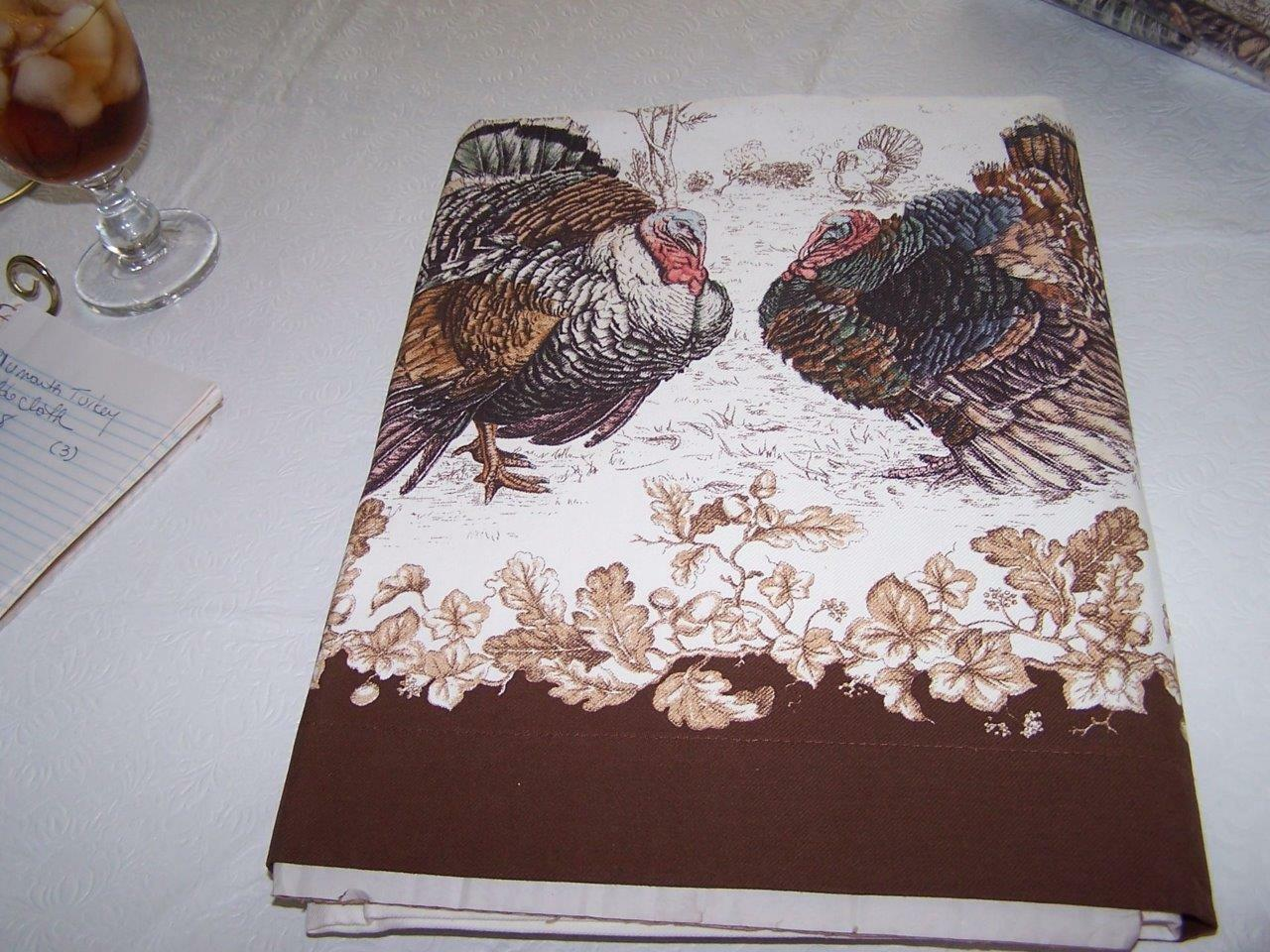 Neuf avec étiquettes Williams Sonoma Thanksgiving Nappe 70 x 108 Plymouth Turquie