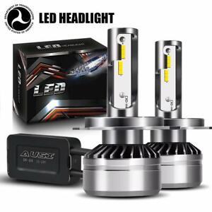 H4 LED Headlight Kit DOT Bulb 6000K HID White Light Headlamps Conversion Kit