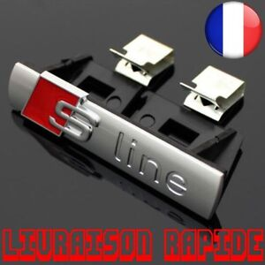 3D-Sline-Avant-Grille-Embleme-Badge-Chrome-ABS-Calandre-autocollant-Accessoires