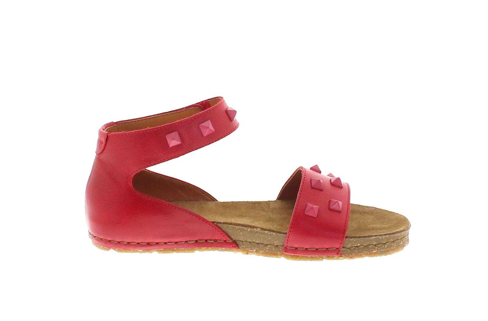 ... Tipo 1251a Creta Carmin cuero sandalia para señora rojo zapatos de  verano ... c9f635857ea