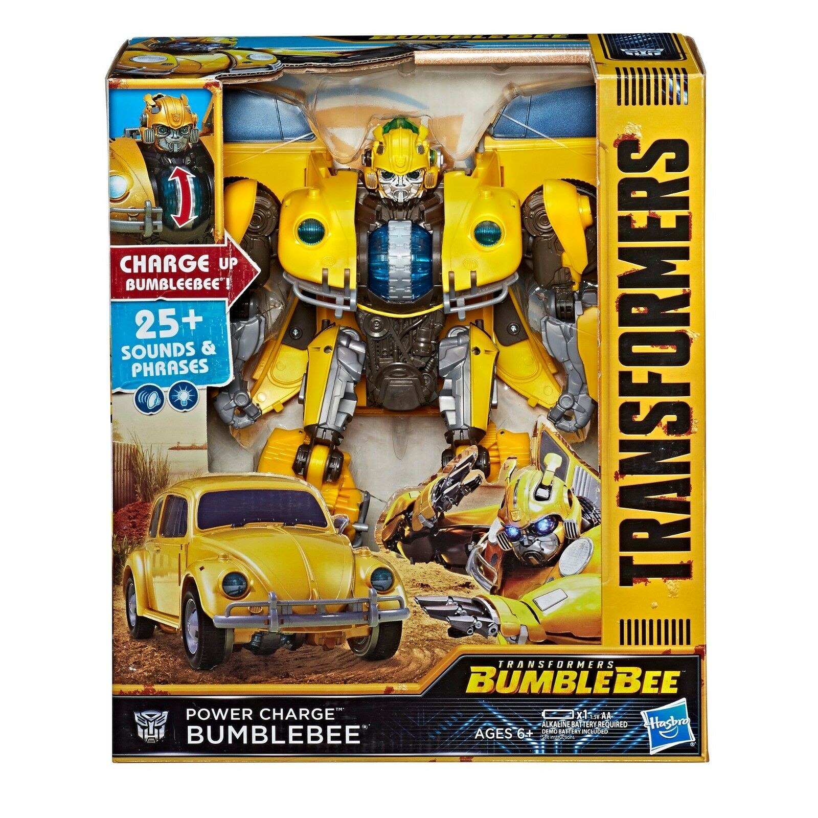 Transformers Bumblebee Movie Power Charge Bumblebee ELECTRONIC LIGHT SOUND 2018