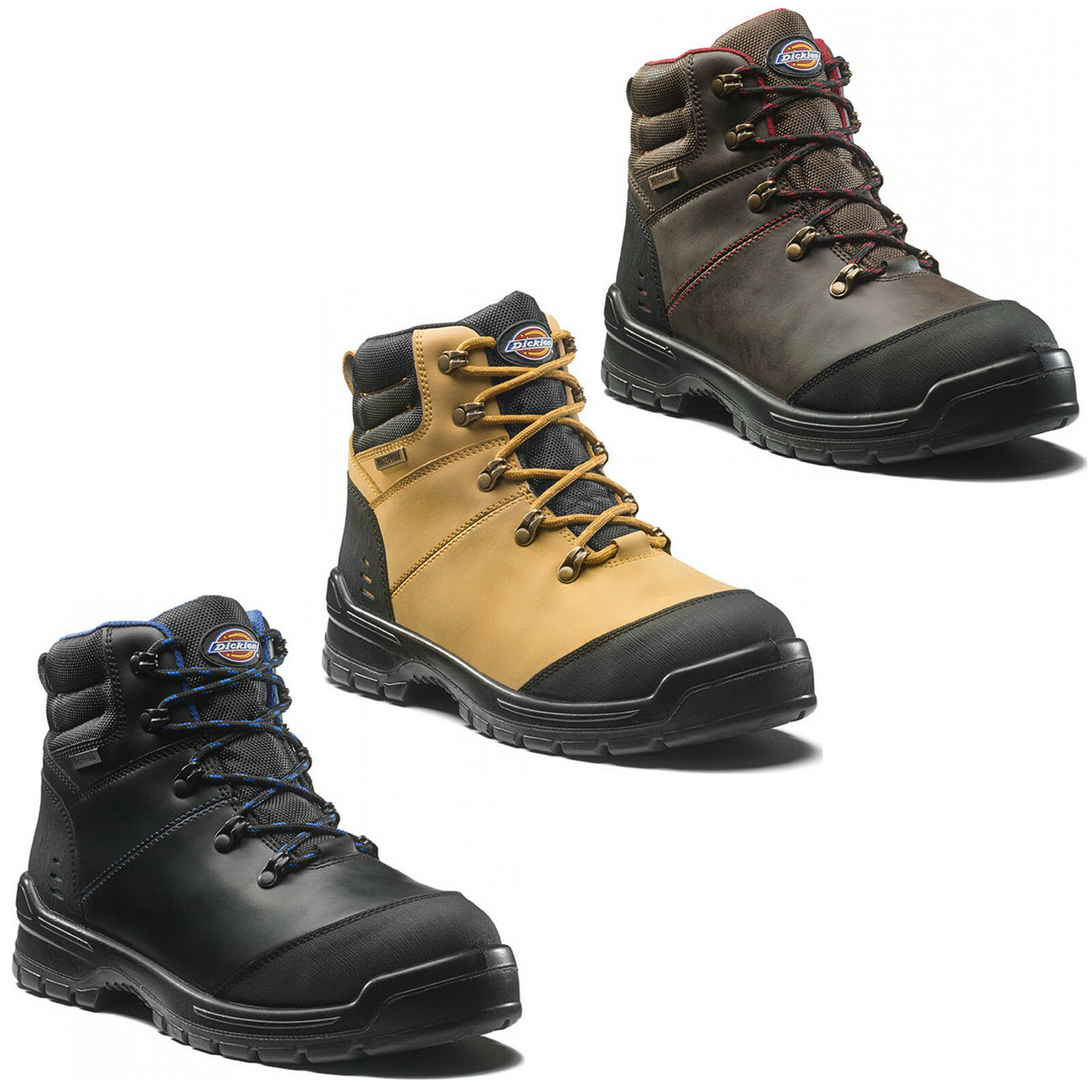 Dickies Cameron Da Uomo Scarpe Stivali di sicurezza impermeabile Scarpe Uomo Composito Punta f3aba3