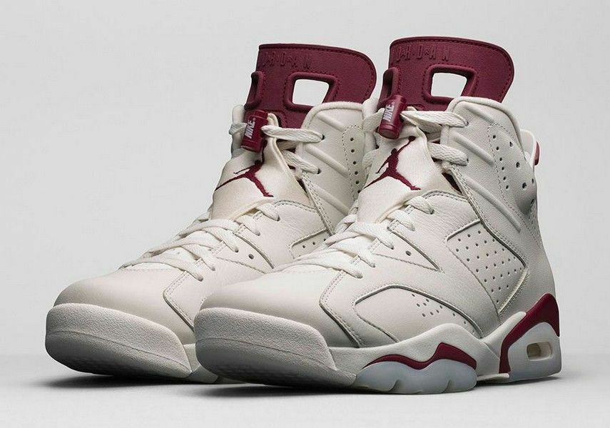 Nike Air Jordan VI 6 Retro Size 10-17 2015 Maroon Off White 384664-116