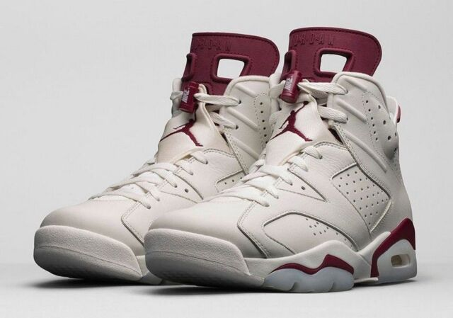 Nike Air Jordan VI 6 Retro Size 10-17 2015 Maroon Off White 384664-