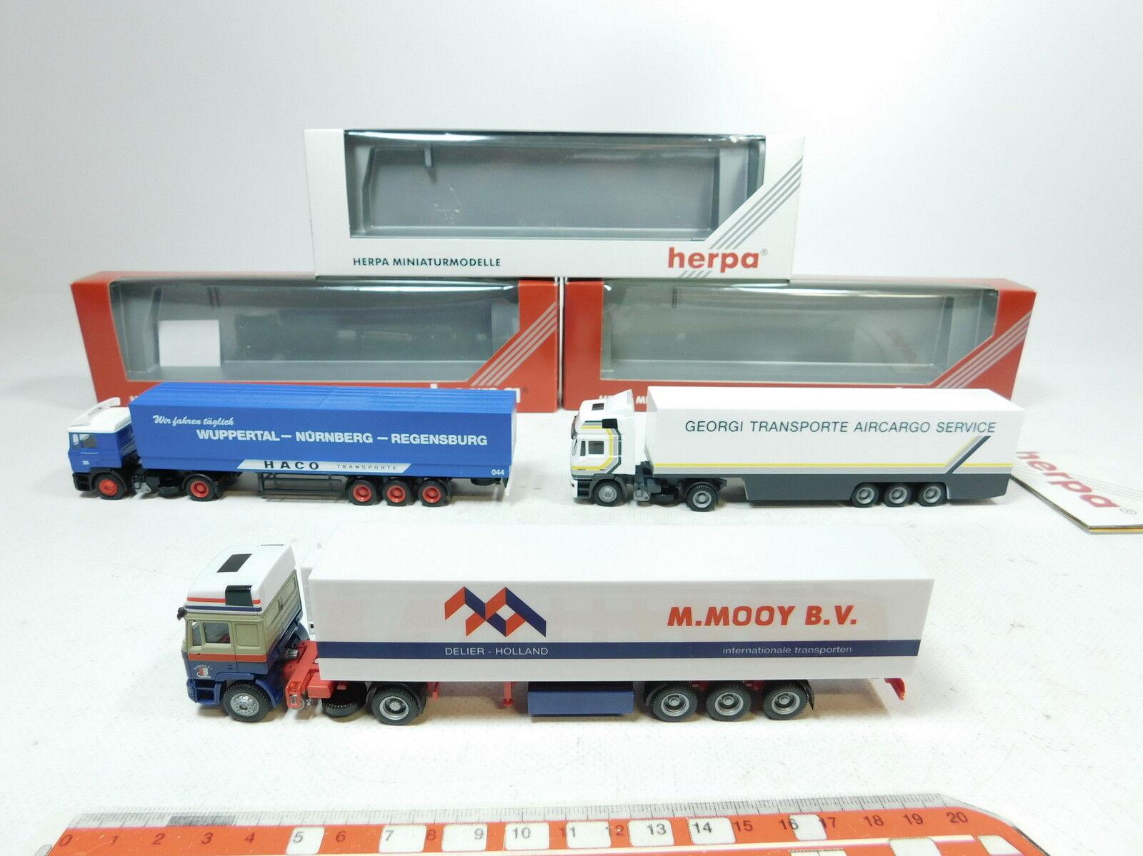 BB258-0,5x Herpa H0 (1 87) Sattelzug SZ MAN    142311+184755+186575, NEUW+OVP 785b38