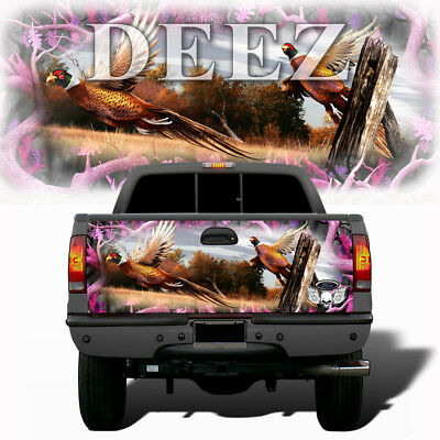 Obliteration tall grass pink camouflage tailgate wrap vinyl graphic decal