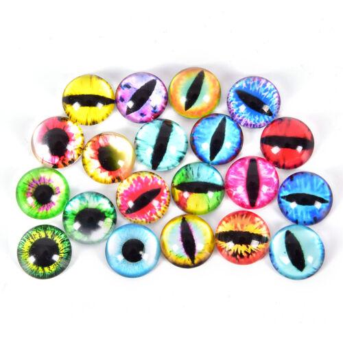 20Pcs Glass Doll Eye Making DIY Crafts For Toy Dinosaur Animal Eyes Accessory KH