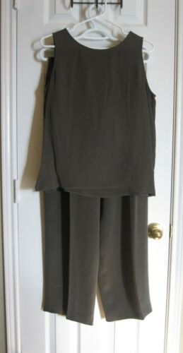Size tank cami 2pc Petite Shell Pants 12p ~ Chaus Silk And 100 Darling q0URvB