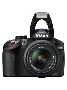 Nikon D D3200 24.2MP Digital SLR Camera - Black (Kit w/ AF-S DX 18-55mm and... 18208885732