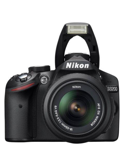 Nikon D D3200 24.2MP Digital SLR Camera - Black (Kit w/ AF-S DX 18-55mm and...
