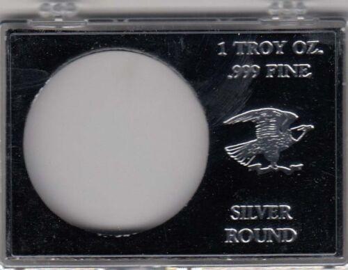 Edgar Marcus Snaplock Holder For 1 Oz Silver Round Coin Black Gift Display Case