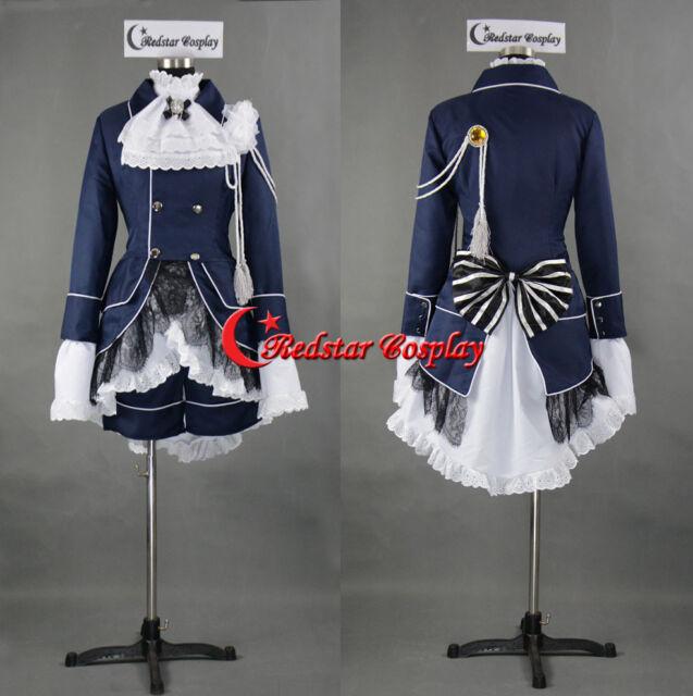 Black Butler 2 Ciel Phantomhive BEST Outfits Uniform Cosplay Costume Custom Made