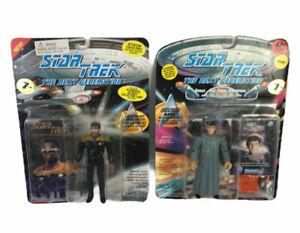 Star-Trek-The-Next-Generation-Action-Figure-Lot-2-Playmates-series-w-Card