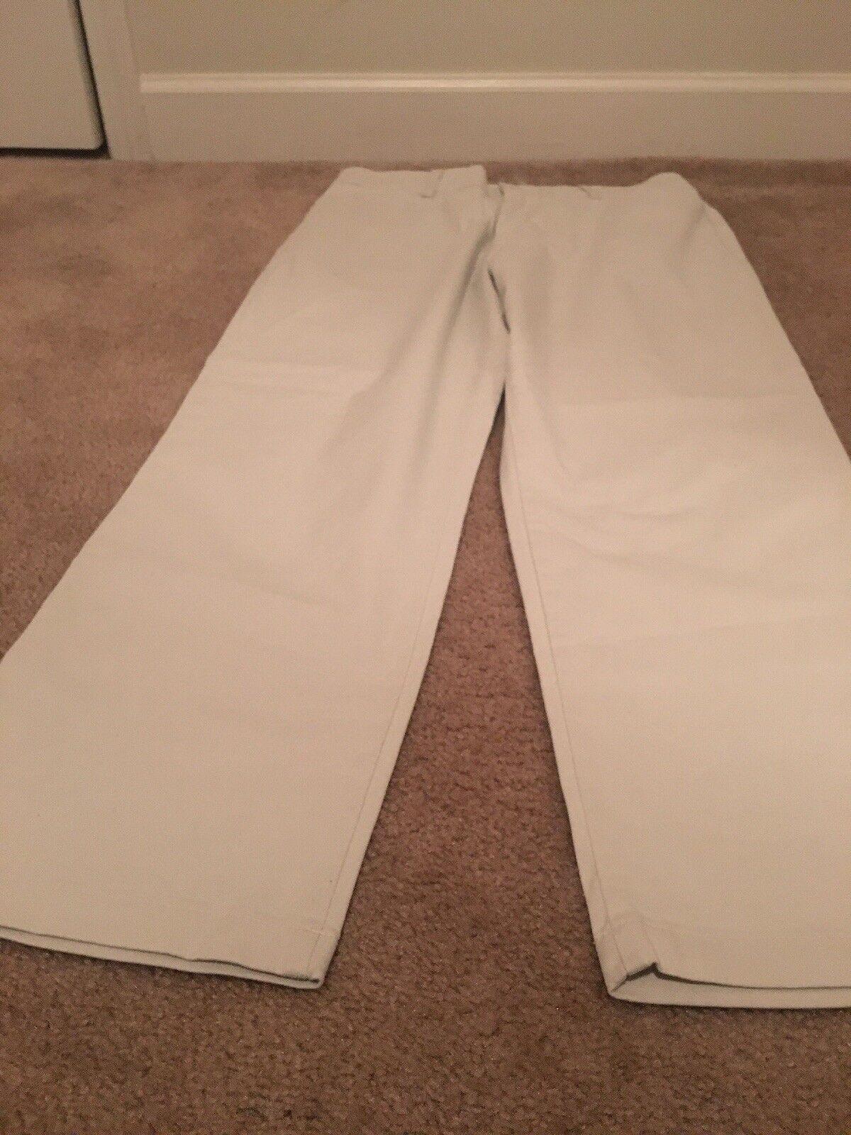 Lee Relaxed Straight leg Women's Casual Pants Sz 14 Petite Beige Clothes