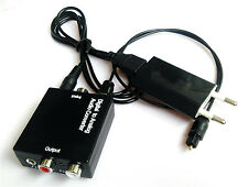 3,5mm Digital toslink to analog audio adapter converter rca optical for DVD BOX
