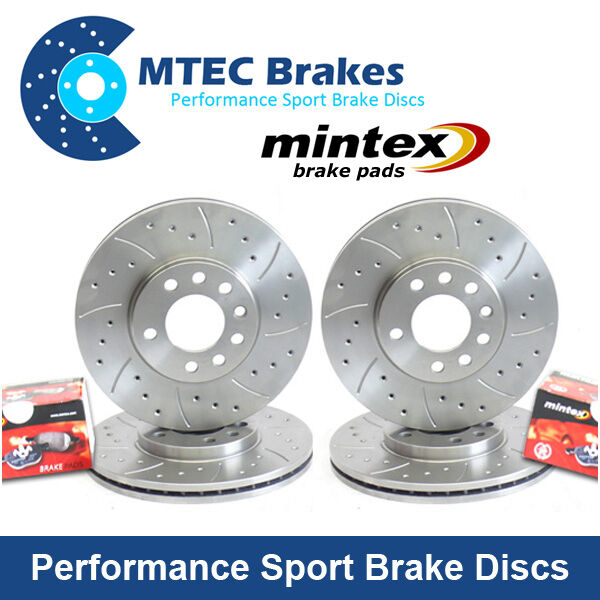 ALFA ROMEO 159 1.9 JTDM Front Rear Drilled Grooved Brake Discs & Mintex Pads
