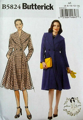 Butterick 5824 Gorgeous Retro '50s Misses' Coat Pattern 6-14 or 14-22