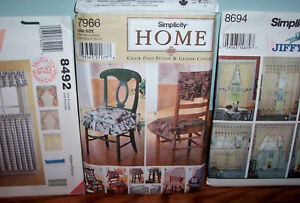 Simplicity-Home-Chair-Pads-amp-Glider-Cover-Pattern-7966-and-two-curtain-patterns
