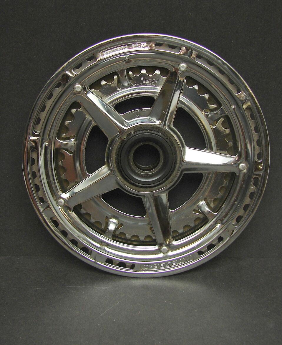 Vintage Shimano Bicycle Integer II FF  System Freewheel Crank Chain Wheel 52 39  fast shipping worldwide