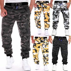 rmk herren camouflage hose jogginghose fitness sport jogging damen milit r tarn ebay. Black Bedroom Furniture Sets. Home Design Ideas