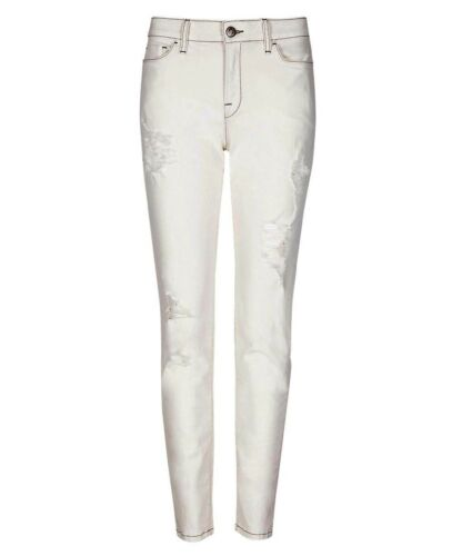 M/&S LTD EDITION Ripped SKINNY Leg JEANS ~ Asst Sizes ~ ECRU