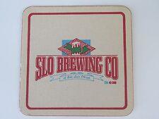 1988 Beer COASTER Bar Mat ~*~ SLO Brewing Company <> San Luis Obispo, CALIFORNIA