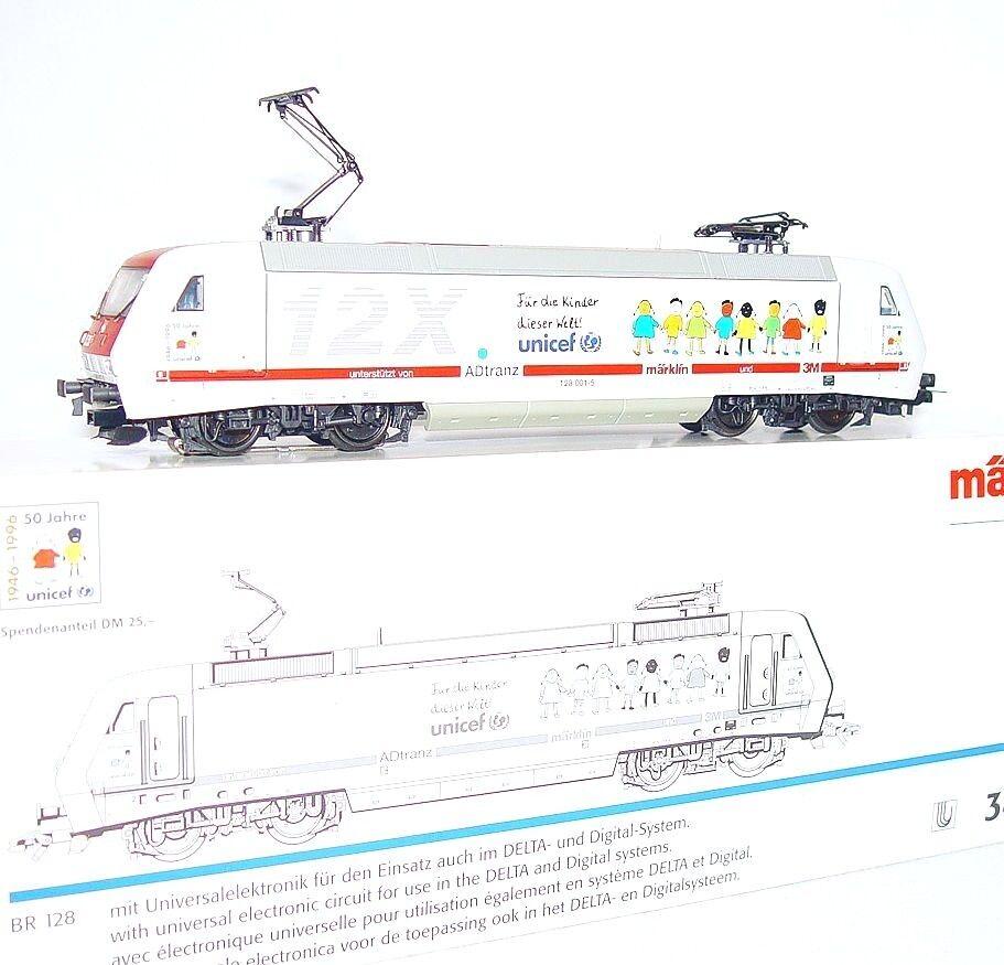 Marklin AC HO 1 87 German DB BR-128 12X UNICEF ELECTRIC LOCOMOTIVE NEW MIB RARE