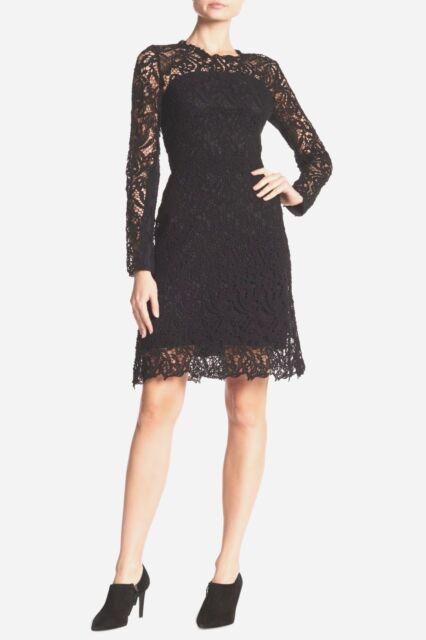 f070193fb81b3 NWT Elie Tahari Priscilla Long Sleeve Lace Dress in Black [SZ 2 US ...