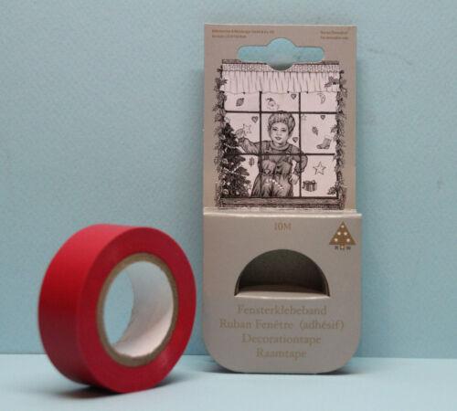 Fensterklebeband rot 19mm x 10m Fensterband Dekoband Weihnachten Klebeband Fenst
