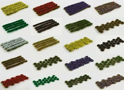 Self-adhesive Dolls House Fairy WWS Mix /& Match Static Grass Strips and Tufts