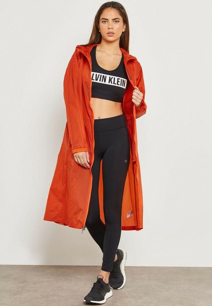 Chaussures Femme Calvin Klein Performance Longueur Genou Veste Orange Taille S Bnwt